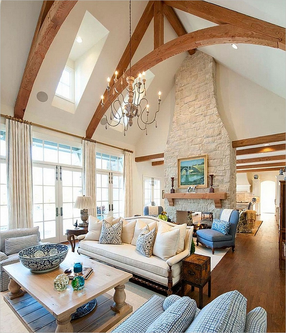 Vaulted Ceiling Living Room Design Ideas 6