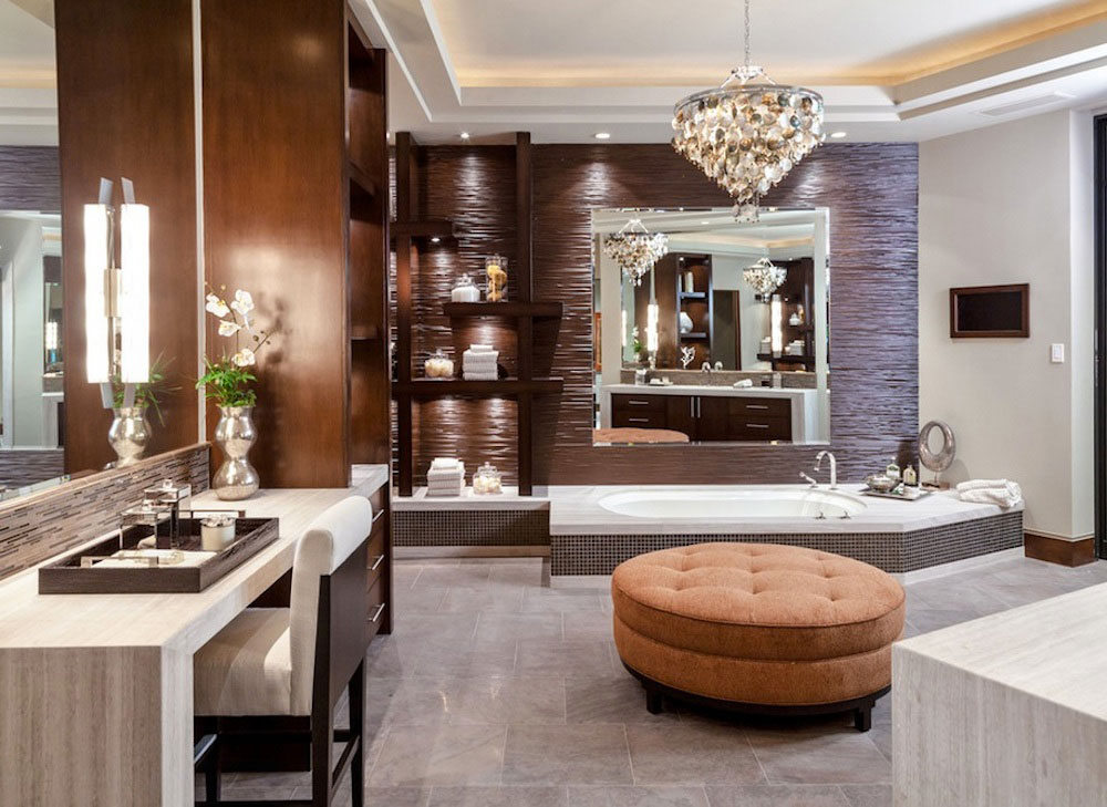 the glamour and beauty of stylish bathroom interiors