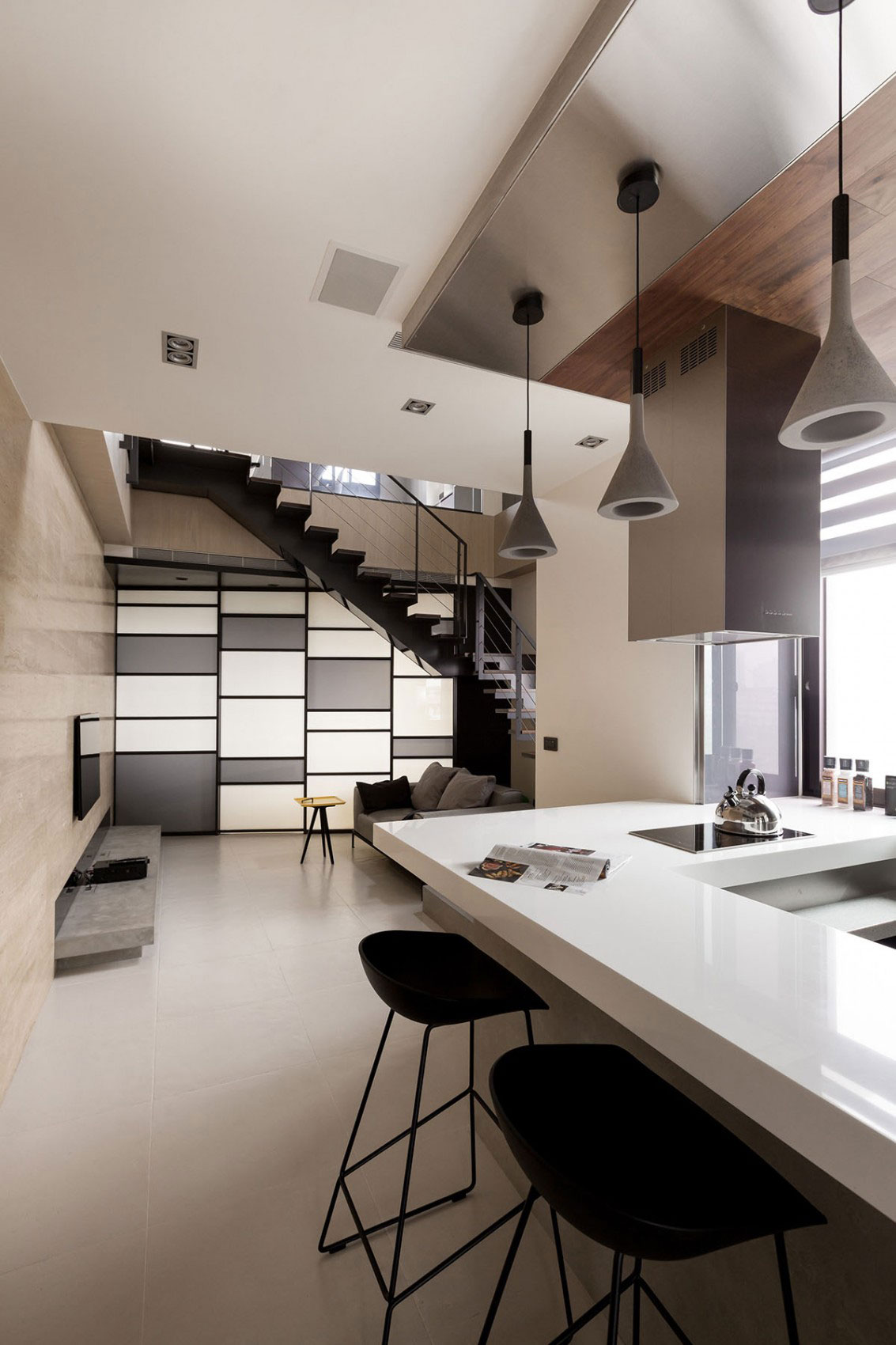 Contemporary Apartment Designed With Neutral Colors