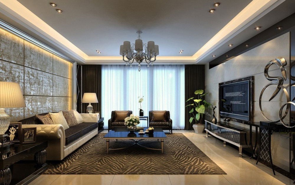interior design for rectangular living room 7 interior design for - Rectangular Living Room