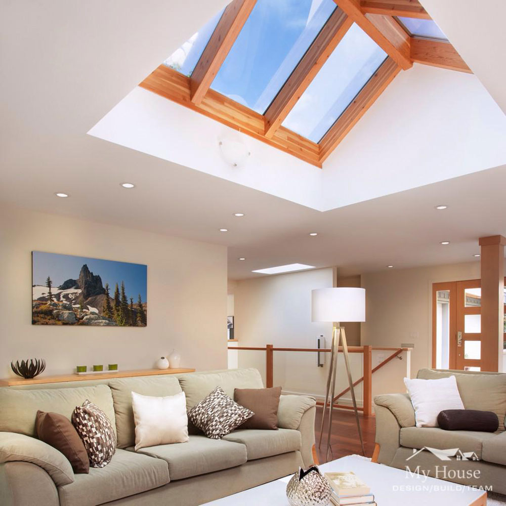 Living Rooms With Skylights Offering Natural Light 2 Living