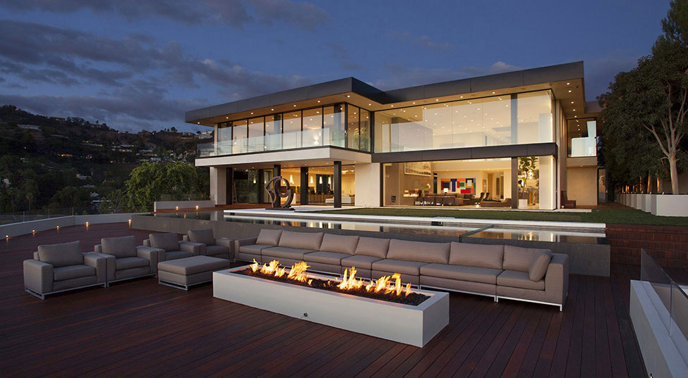 sunset strip residence 2 houses with beautiful architecture and interior design by mcclean - Beautiful Architecture Homes