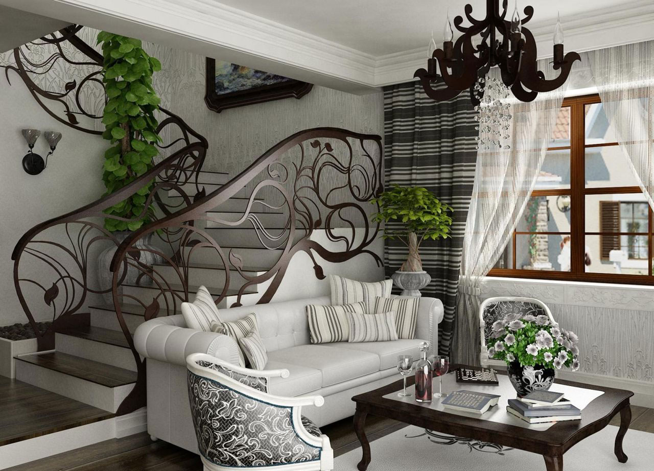 Art nouveau interior design with its style decor and colors for Art deco home decoration