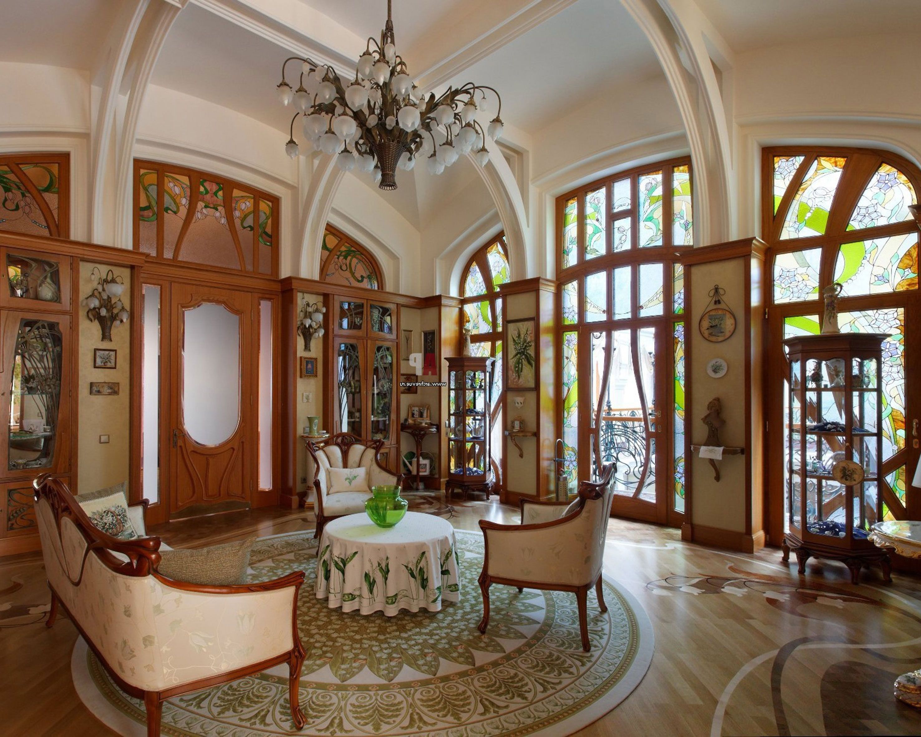 Beau Art Nouveau Interior Design With Its Style Decor