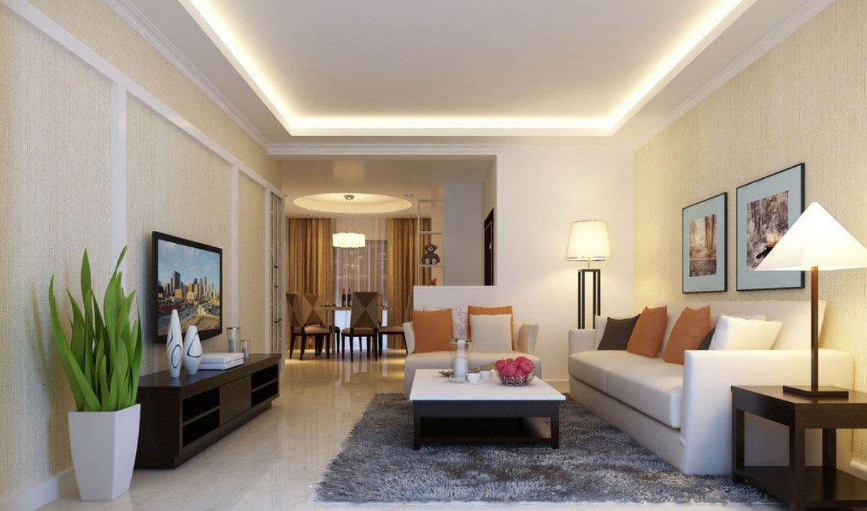 How to decorate a living room with low ceilings - Lighting