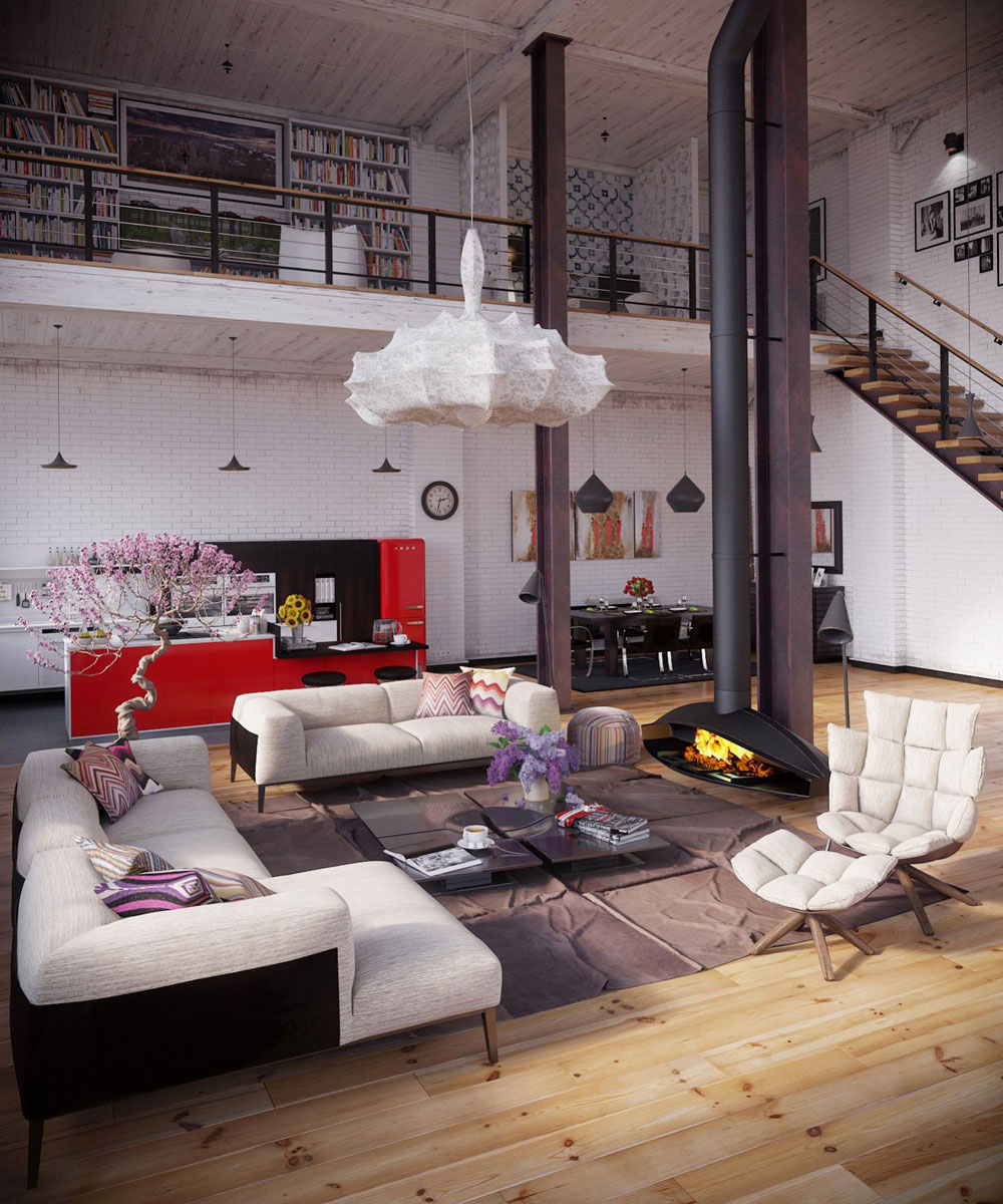 industrial home furniture. Modern-Industrial-Interior-Design-Definition-And-Ideas-To- Industrial Home Furniture