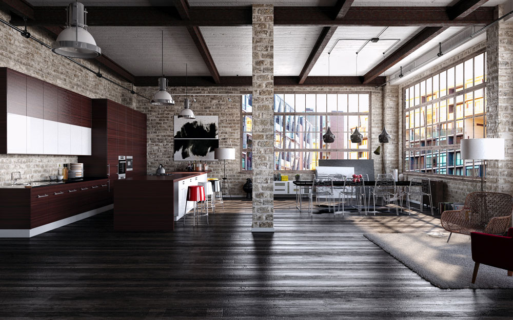 Industrial Interior Design Ideas modern industrial interior design - home design