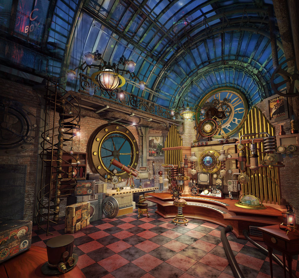 Steampunk interior design style and decorating ideas for Interior designer 7