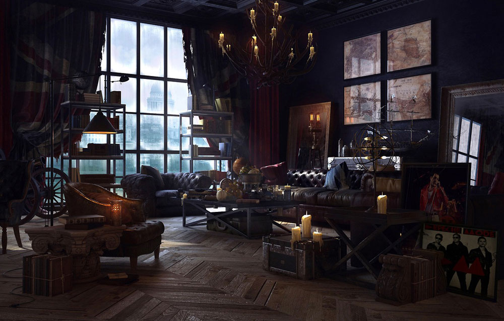 steampunk interior design style and decorating ideas 9 steampunk - Steampunk Interior Design Ideas