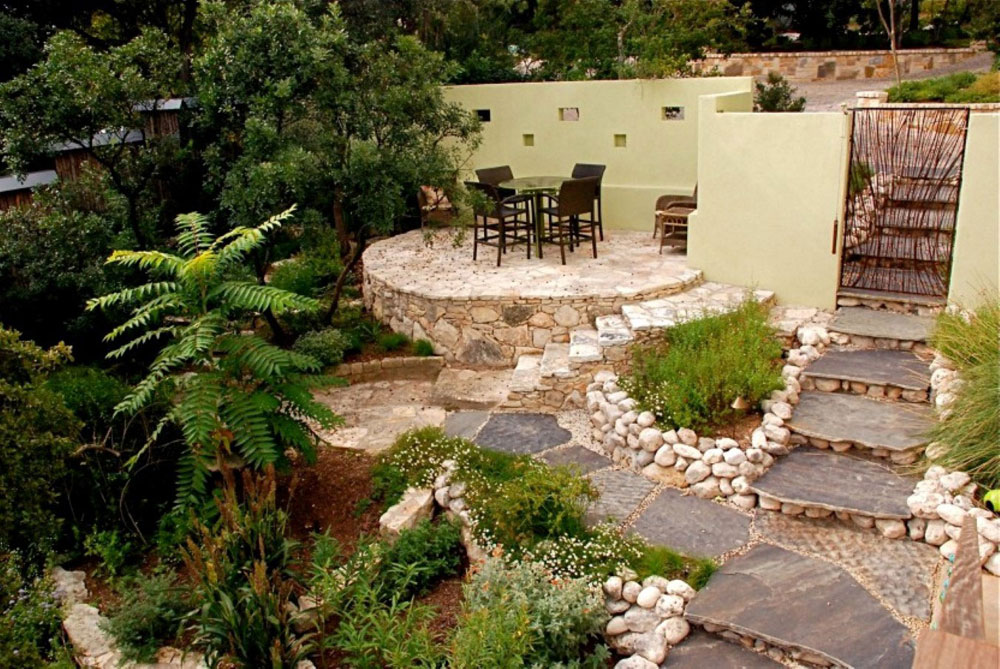 Elegant House Walkway And Patio Ideas Illustrated With Pictures