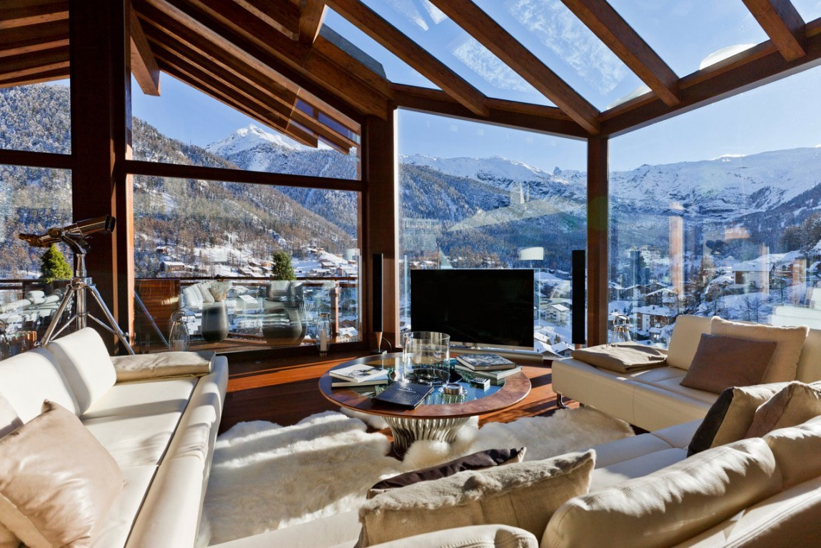 Lovely Swiss Chalet Designed By Paul Bowyer