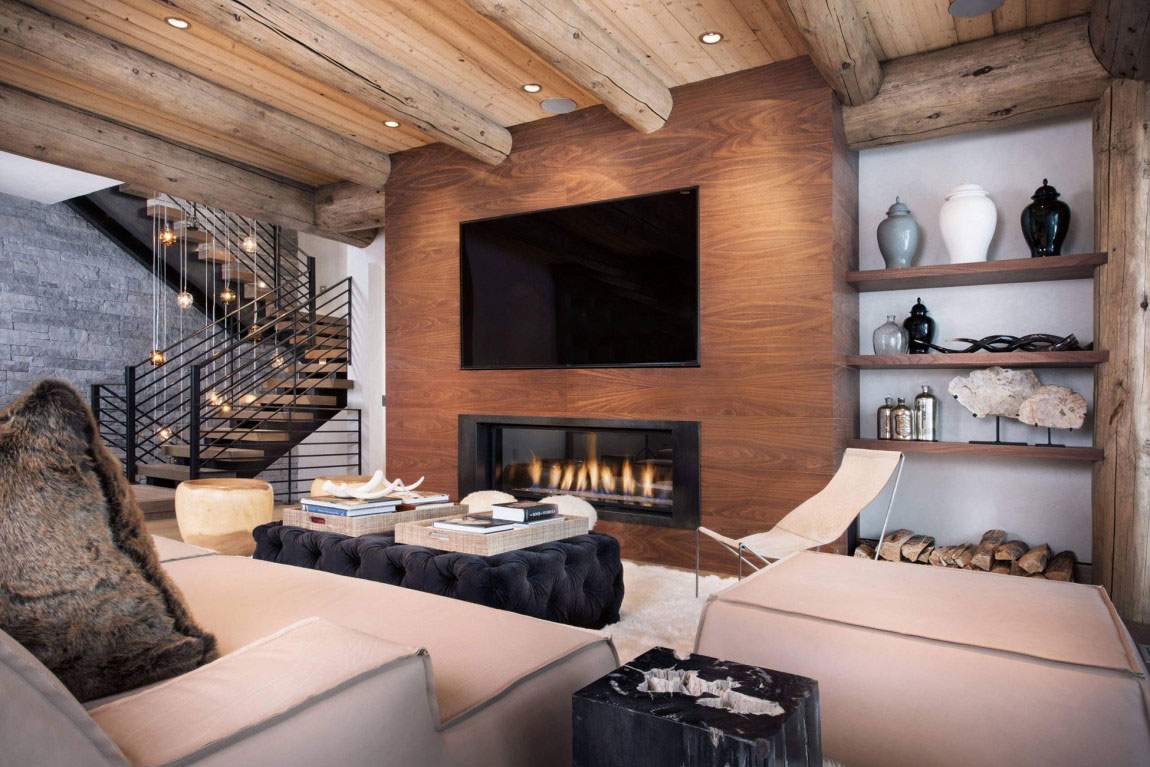 Ski Chalet Interior Design ski chalet showcasing the beauty of natural wood