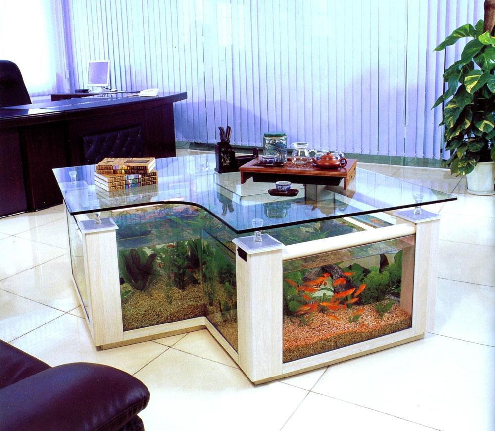 Fish aquarium in bedroom - Change The Look Of Your Room With This Home Aquarium Tanks 6