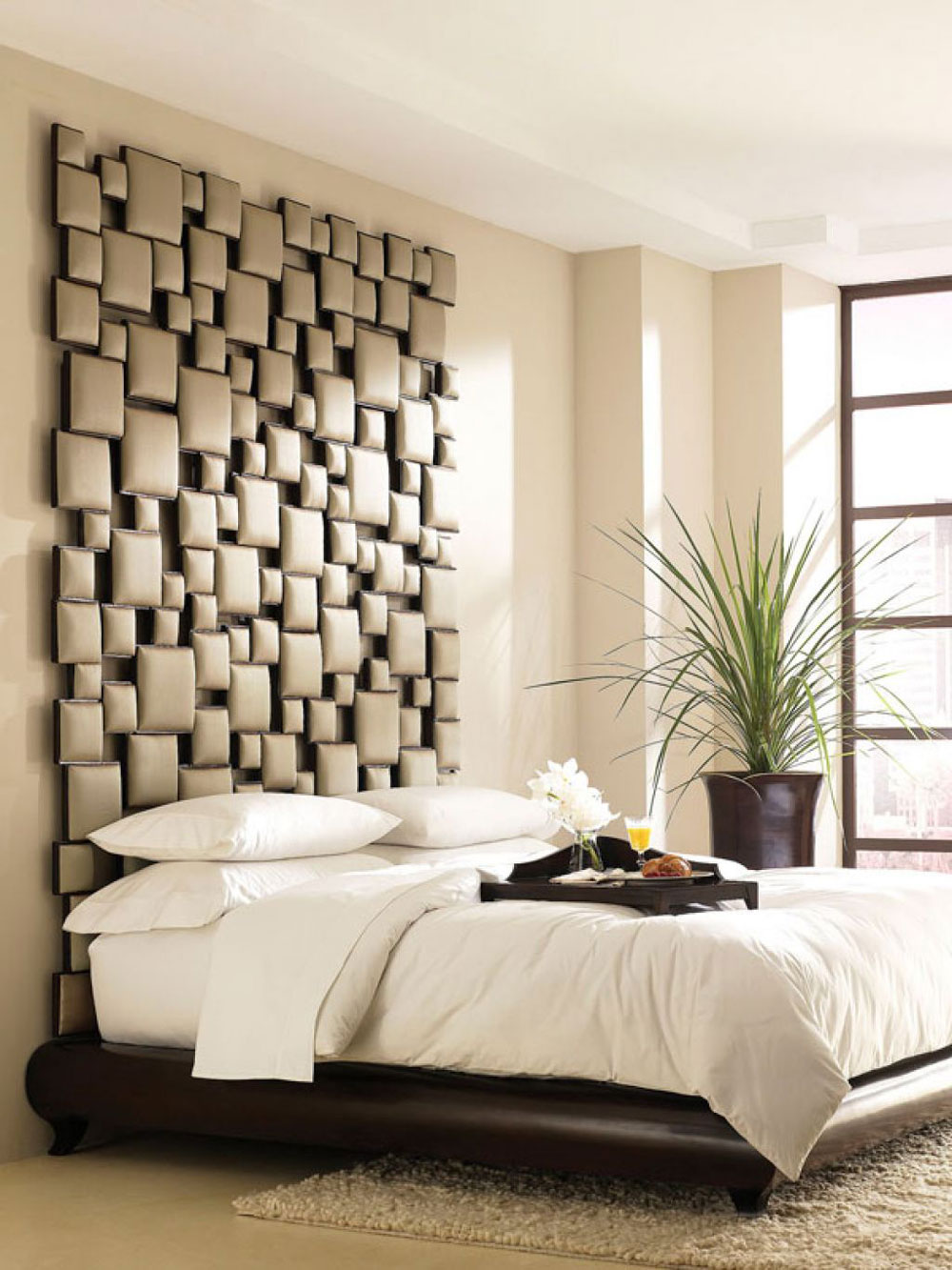 Headboard Decorating Ideas Part - 16: Fashionable-Bedrooms-With-This-Headboard-Decorating-Ideas-10 Fashionable