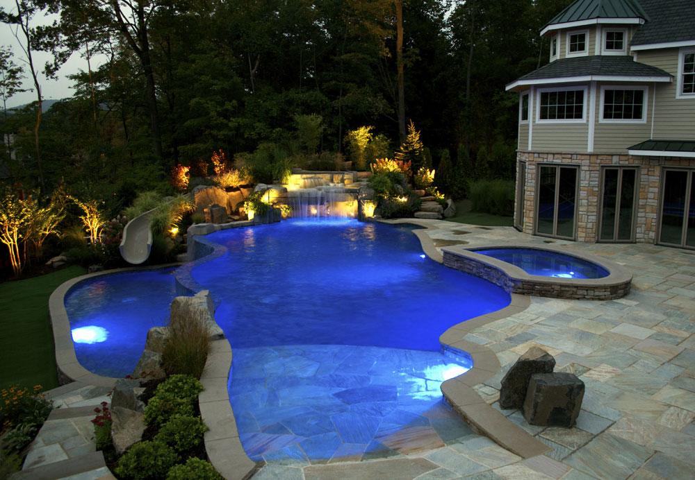 outside swimming pool design and landscaping ideas