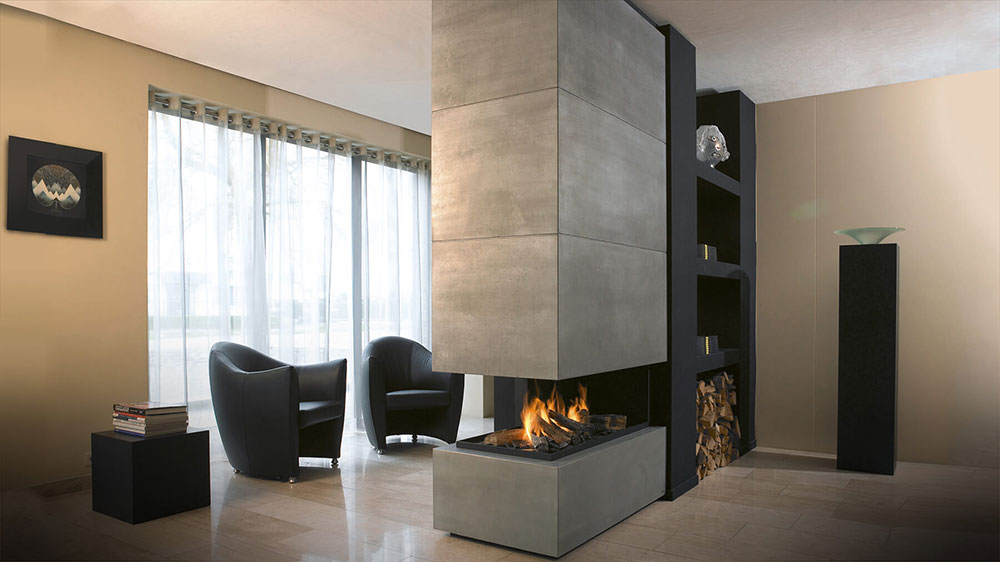 fireplace design modern