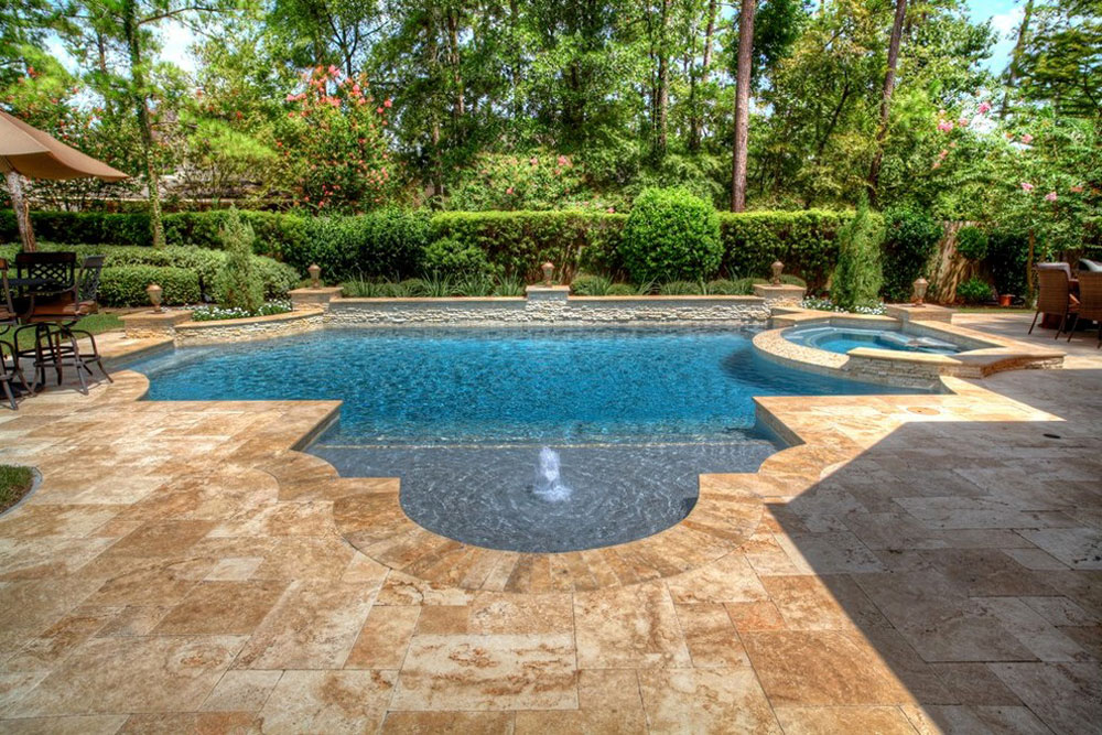 Pool Ideas simple contemporary home with backyard pool and flagstone patio Swimming Pool Design Ideas And Pool Landscaping 12 Outdoor