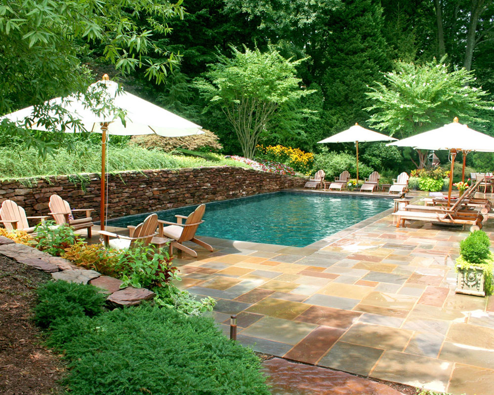 swimming pool design ideas and pool landscaping 2 outdoor - Garden Ideas Around Swimming Pools