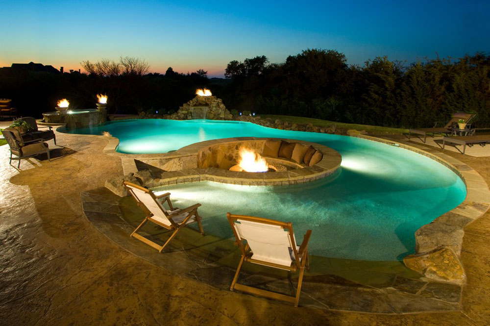 Landscaping Ideas Pool Area above ground swimming pool landscaping ideas with wooden deck in decorate above ground pool area how to decorate a garden with pool Swimming Pool Design Ideas And Pool Landscaping 9 Outdoor