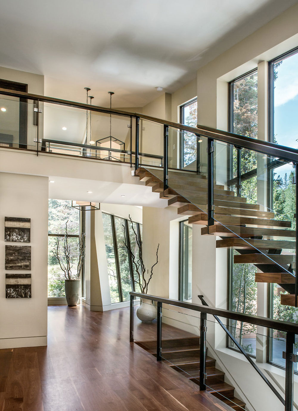 Contemporary staircase2 contemporary and modern interior design characteristics