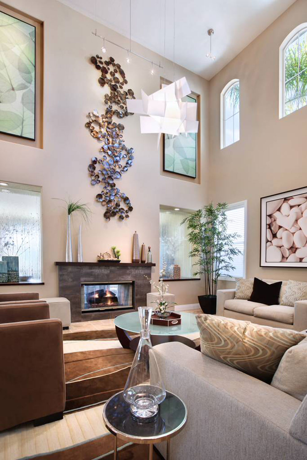 living room wall decor. Decorating A Room With High Ceiling12 Ceiling Rooms And Ideas For Them