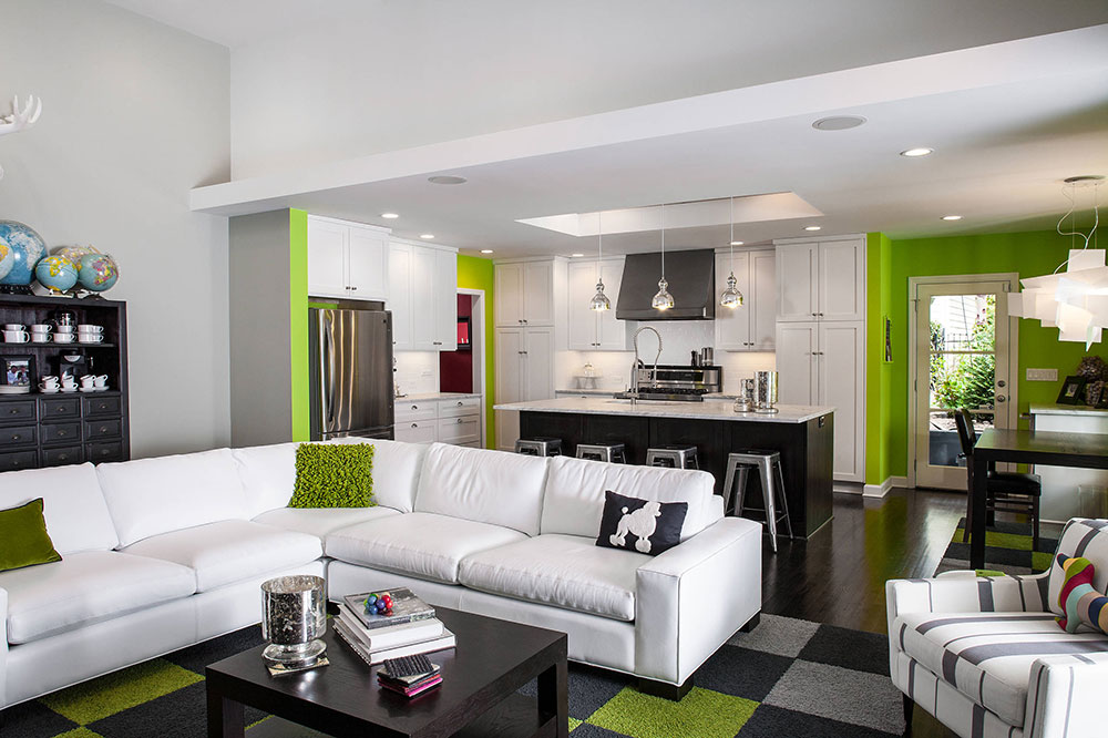 Gray And Lime Green Living Room