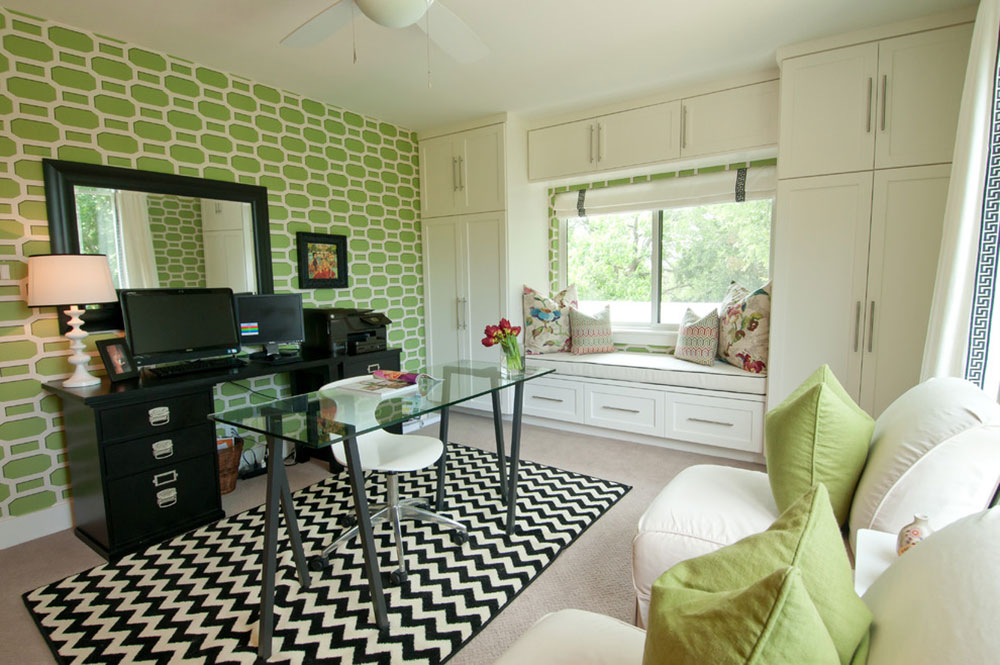 green ideas for the office. Improve-Your-Work-Day-With-These-Home-Office- Green Ideas For The Office E