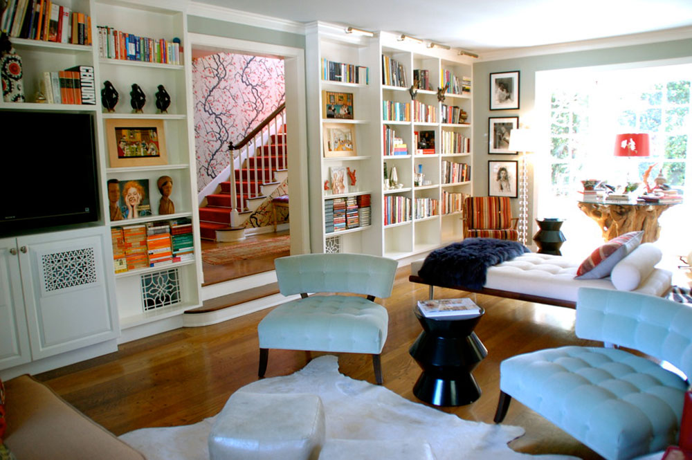 Living Room Bookshelf Decorating Ideas Endearing Unique Bookshelves Designs You Would Like To Own Design Inspiration
