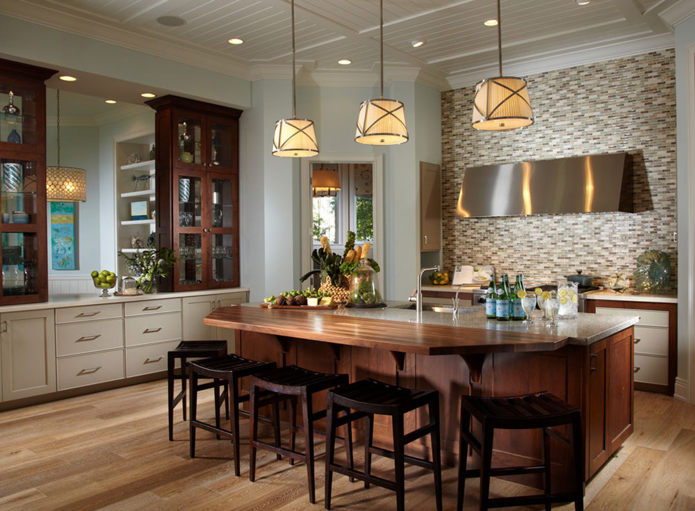 marvelous Led Pendant Lights For Kitchen Island #4: ... islands kitchen lighting black granite countertops. guide to choosing  the hardwood flooru0027s color7