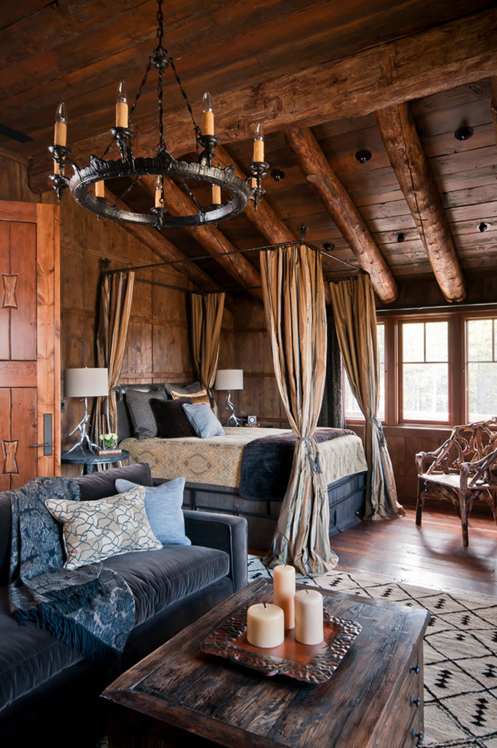 Brown and blue rustic bedroom - Rustic Bedroom Design Ideas Which Radiate Comfort 13 Rustic Bedroom Design Ideas Which Radiate Comfort