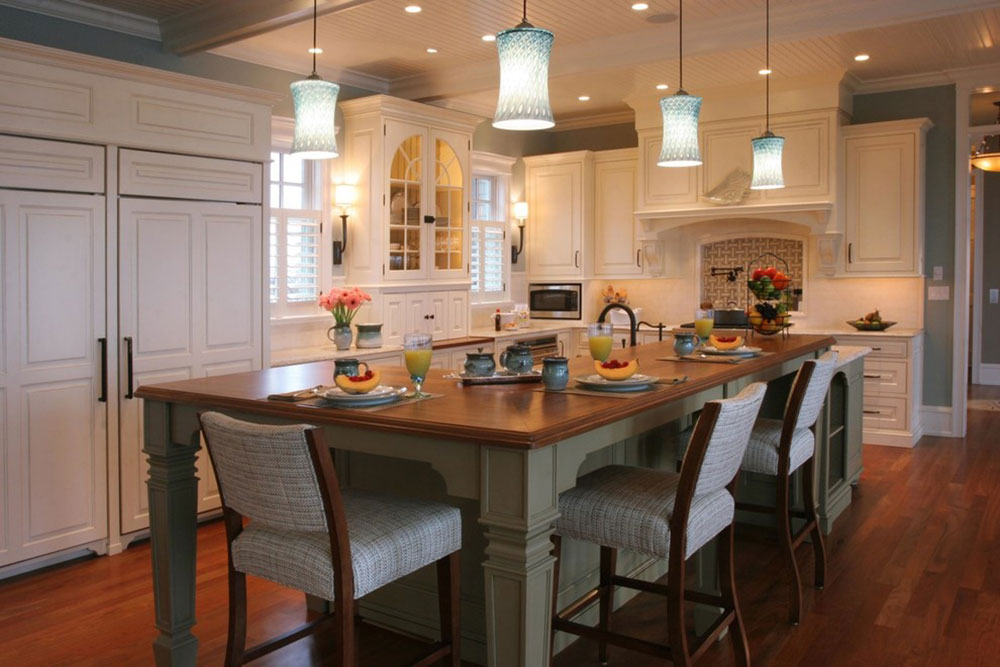 Modern Kitchen Island Designs With Seating 11