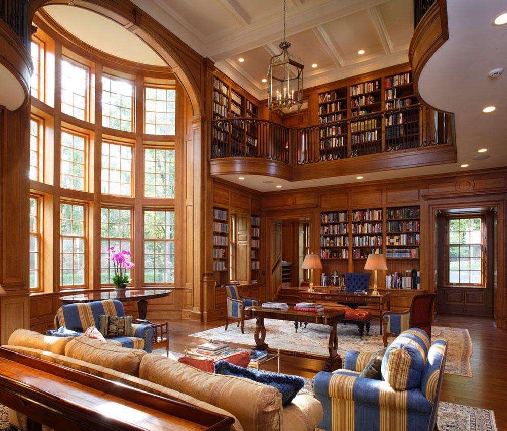 creating a home library design will ensure relaxing - Library Furniture Home