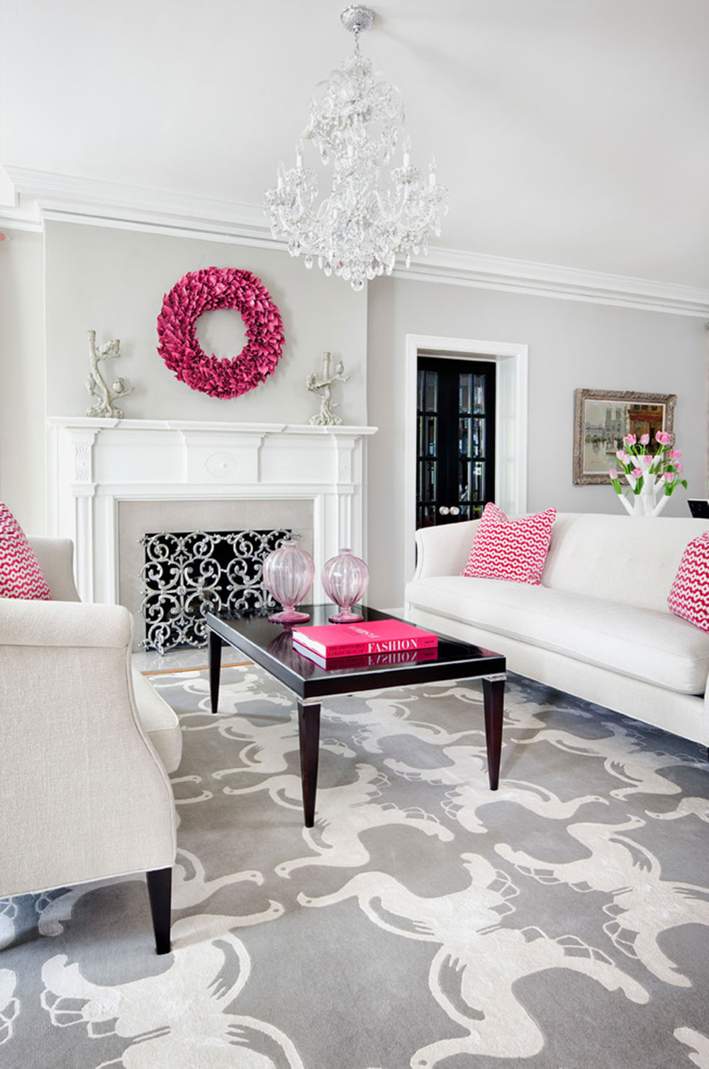 Pink Accessories For Living Room Pink Interior Design For Everyone