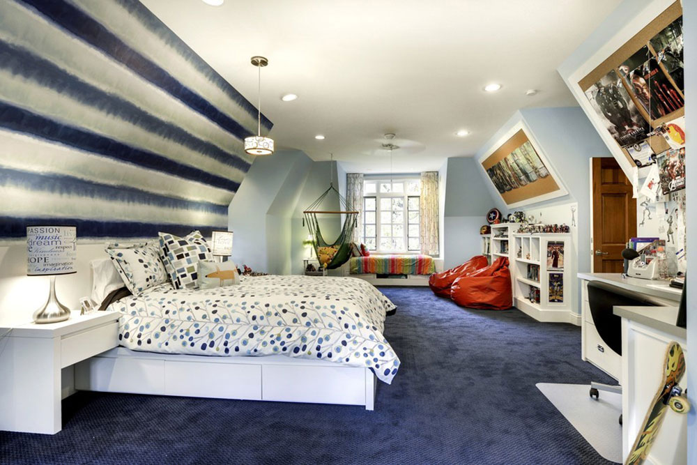 teen room paint ideasCool And Cozy Boys Room Paint Ideas