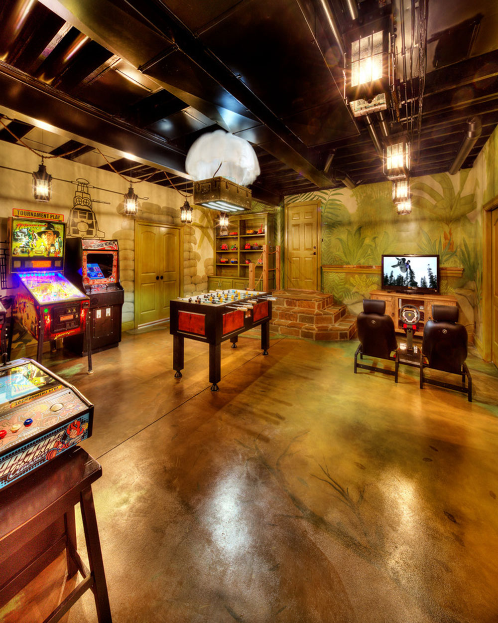 Equipped Game Room For Quality Time5 Fully Equipped Game Room Ideas Part 93