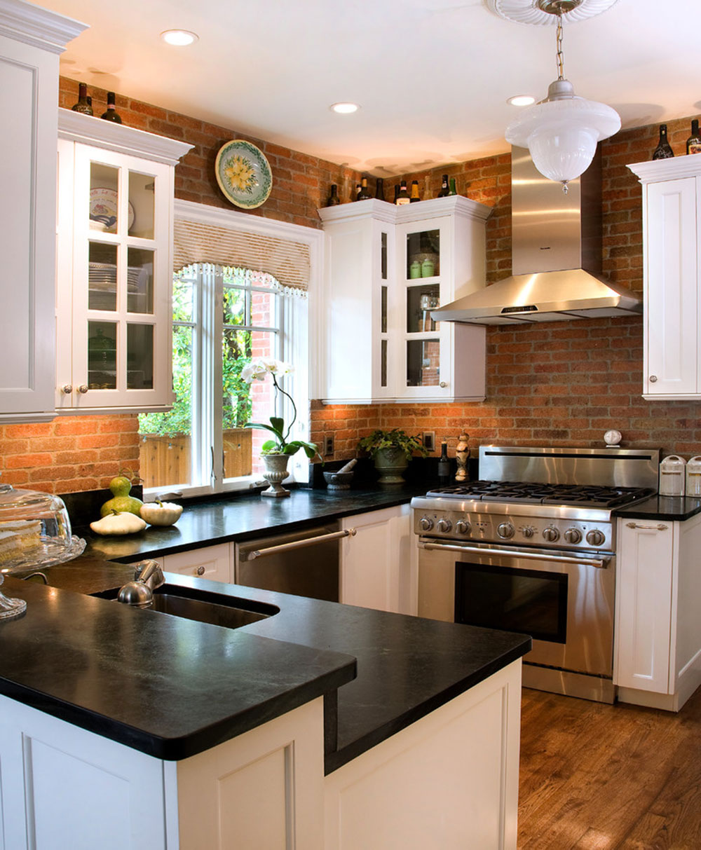 Image of: Modern Brick Backsplash Kitchen Ideas