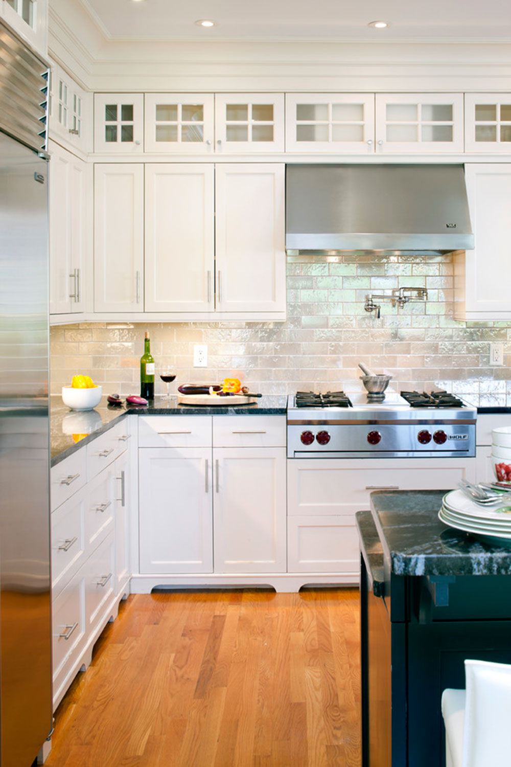 - Modern Brick Backsplash Kitchen Ideas