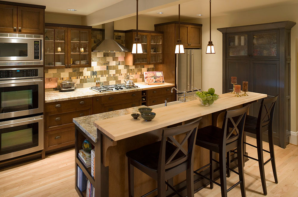 Kitchen Island Ideas Brick modern brick backsplash kitchen ideas