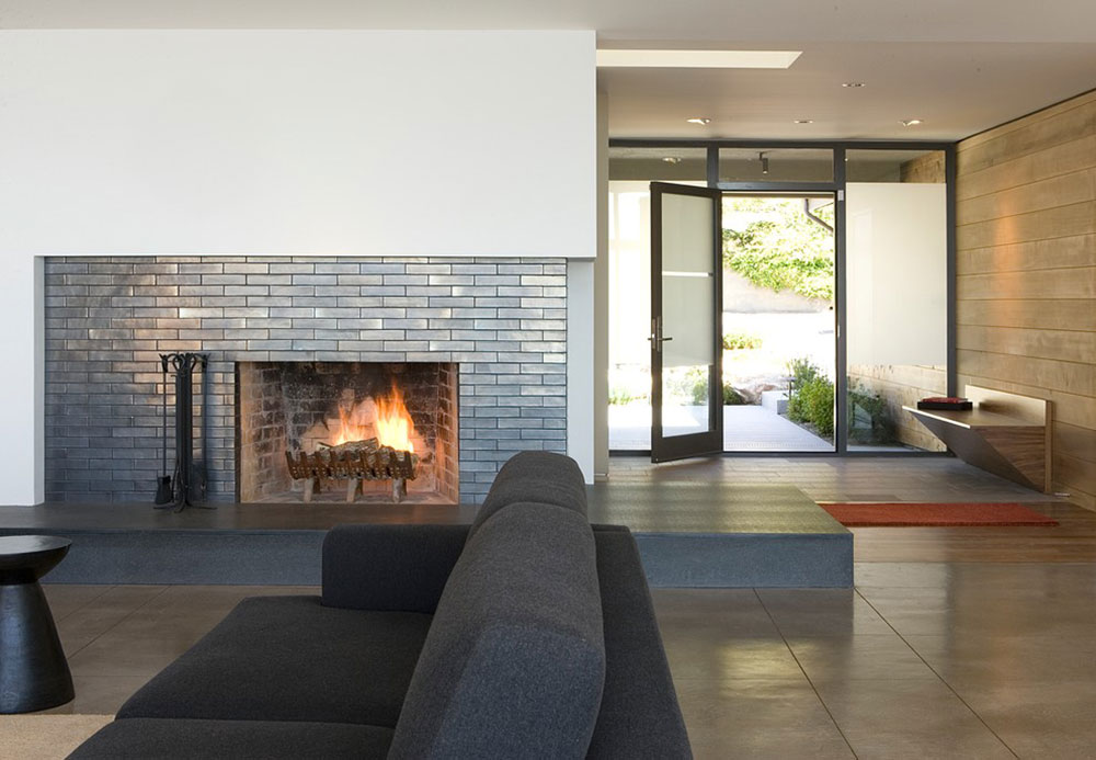 Modern Fireplace Tile Ideas - Brick fireplace tile ideas