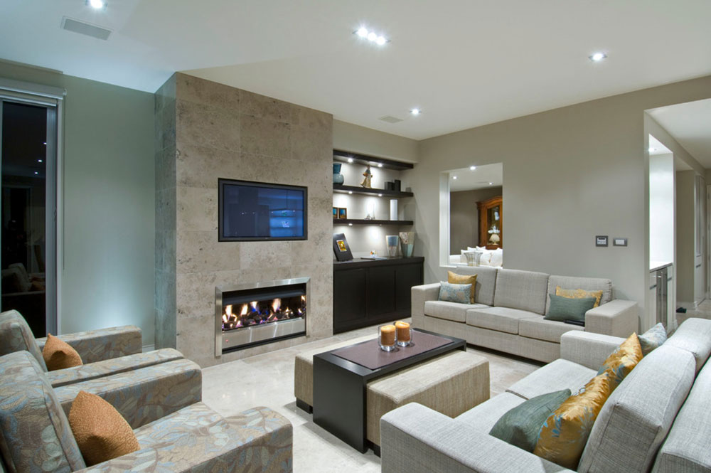Contemporary Fireplace Surround For Warm Homes13 Modern Tile Ideas