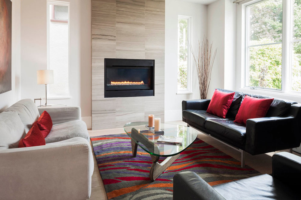 Contemporary Fireplace Surround For Warm Homes5 Modern Tile Ideas