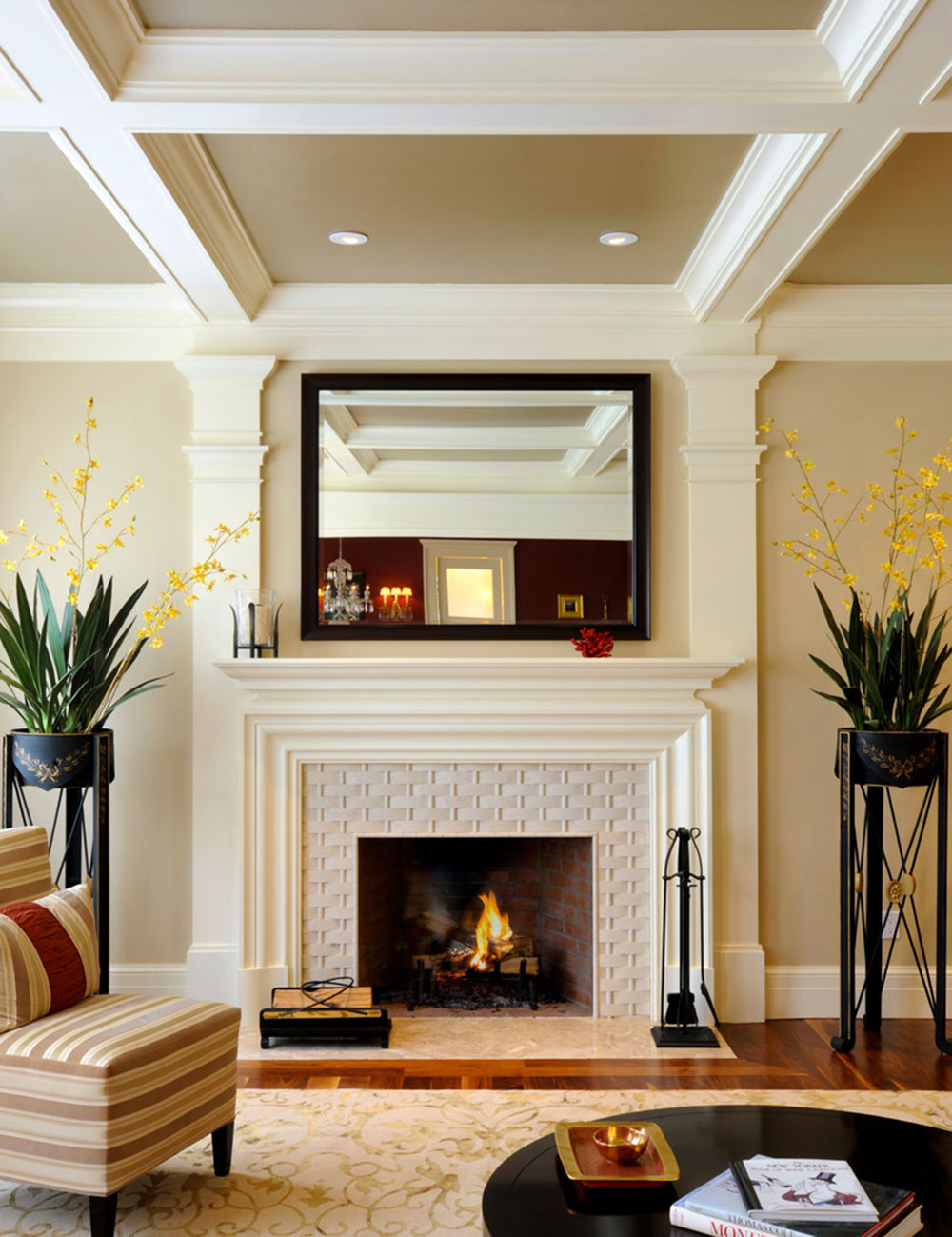 Contemporary Fireplace Surround For Warm Homes6 Modern Tile Ideas
