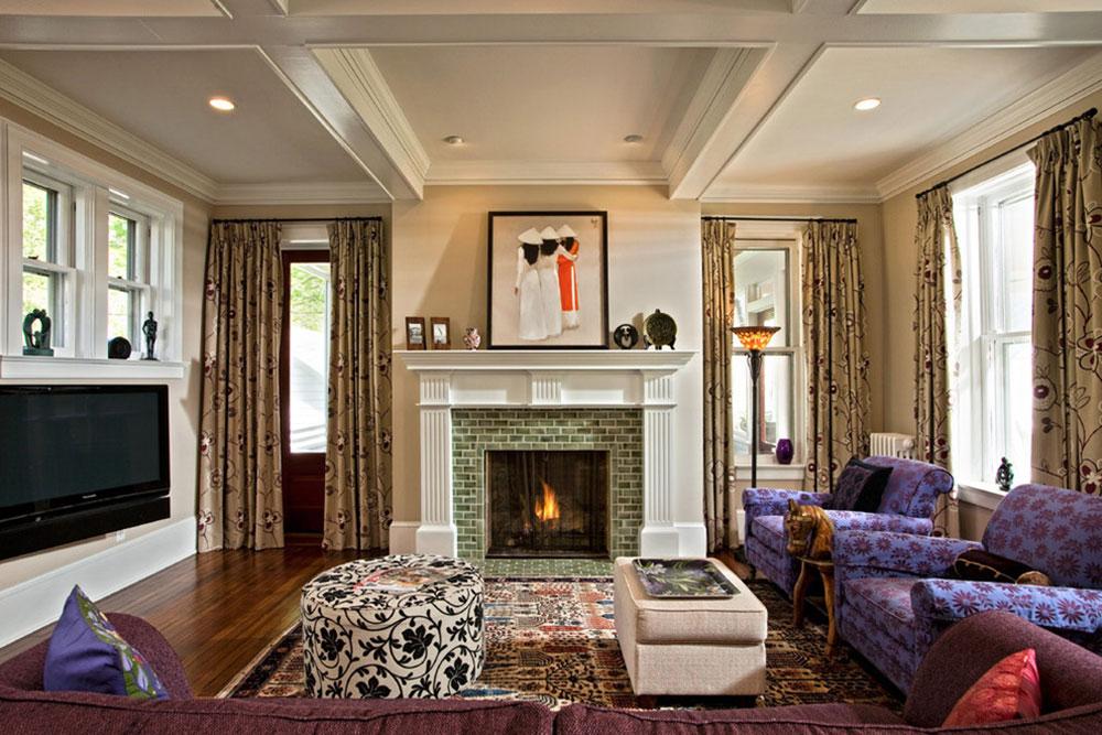 Contemporary Fireplace modern fireplace tile ideas