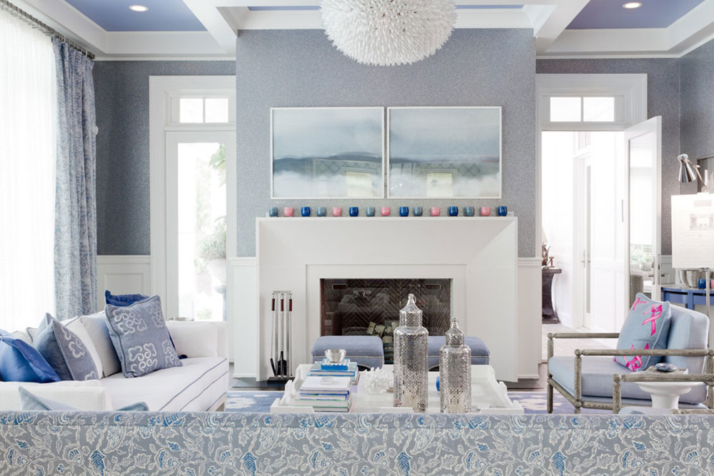 Blue Color Living Room kitchen cabinet sliving room list of things