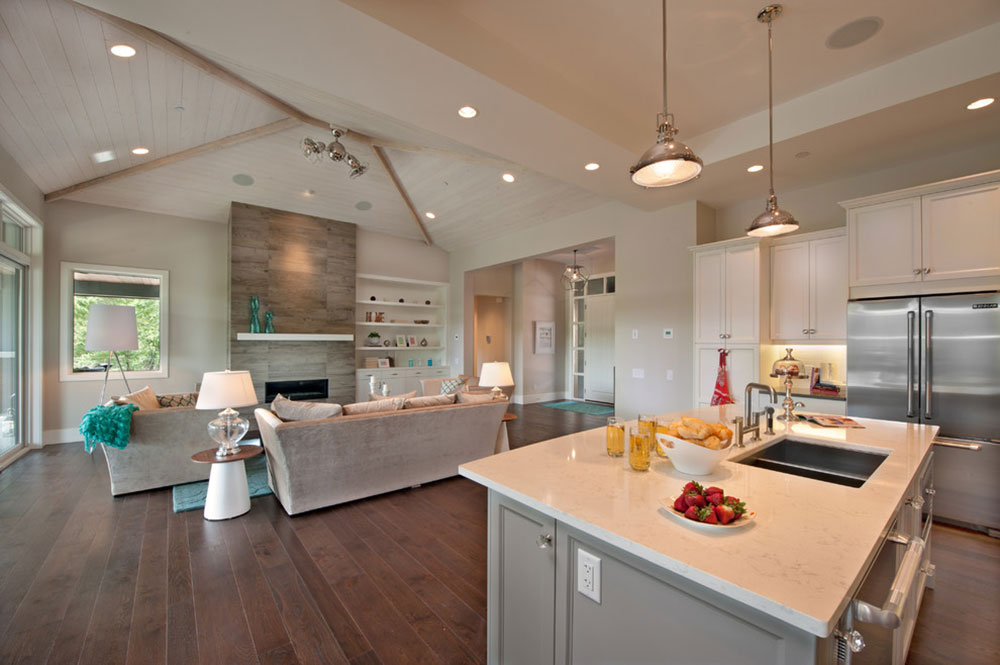 Bright Your Kitchen With Sparkling White Quartz Countertop2 Sparkling