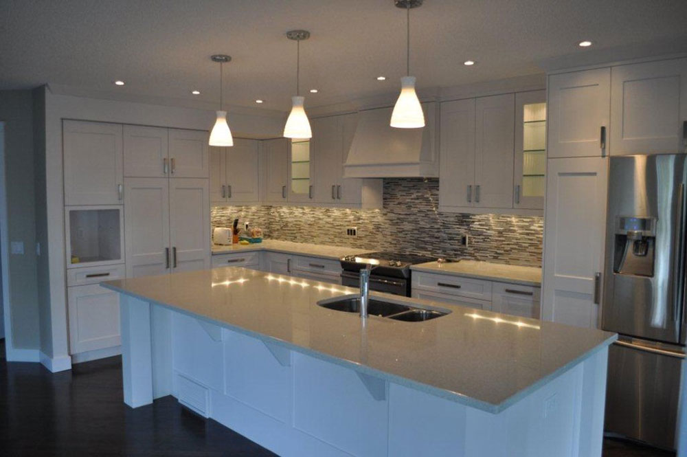 White Kitchen Quartz brighten your kitchen with sparkling white quartz countertop