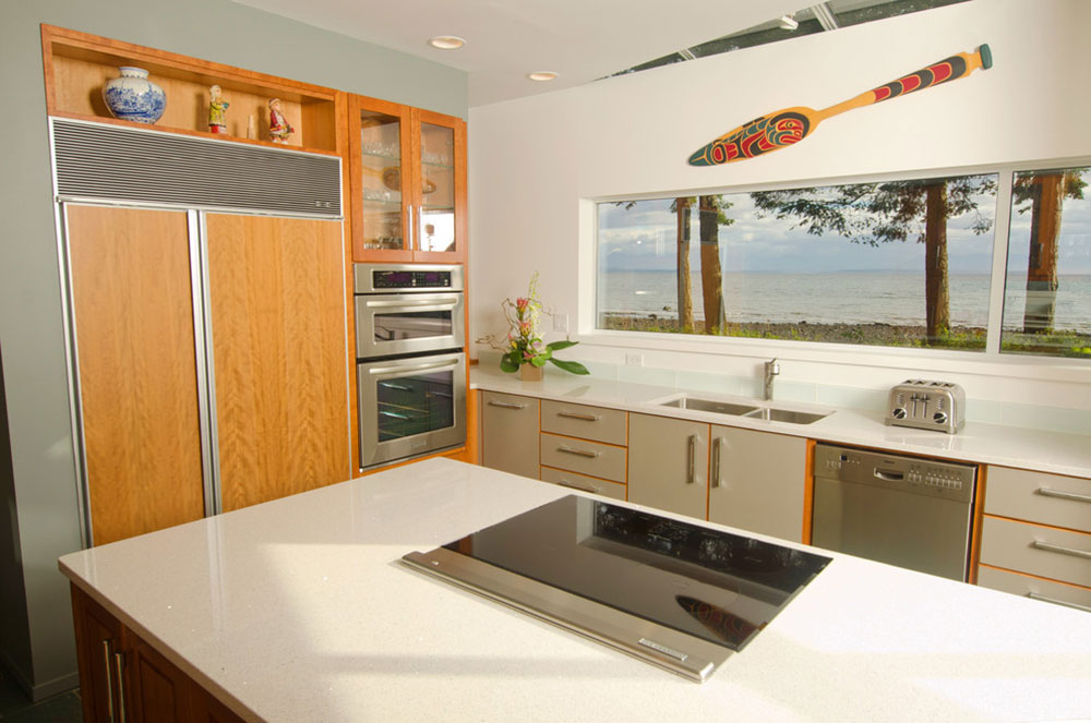 Bright Your Kitchen With Sparkling White Quartz Countertop7 Sparkling