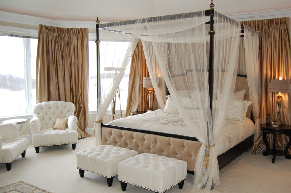 Canopy Beds With Curtains curtains around bed - between function and design