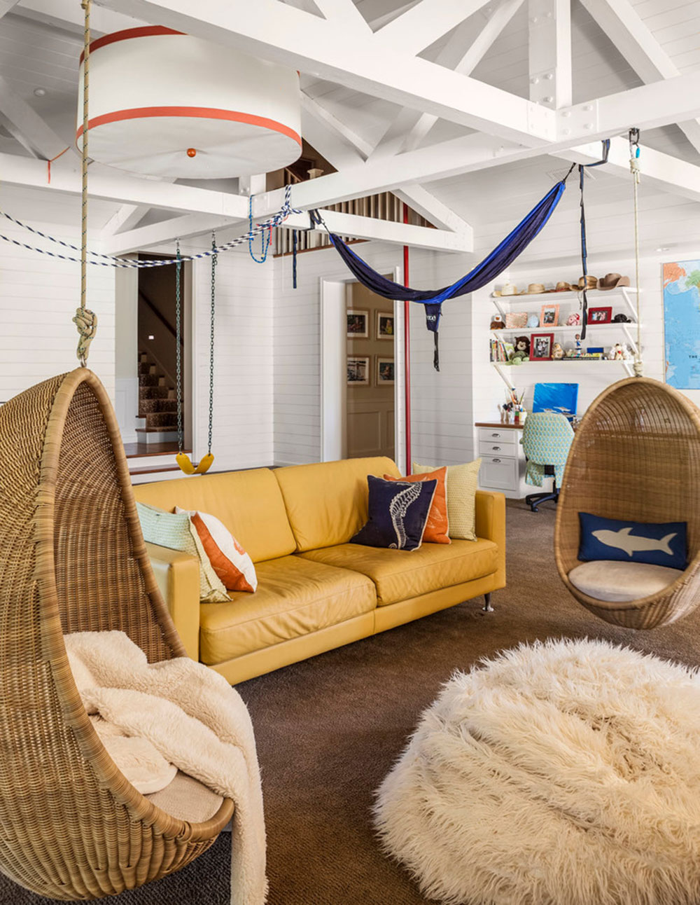 Nice Decorating With A Yellow Couch Color Of The