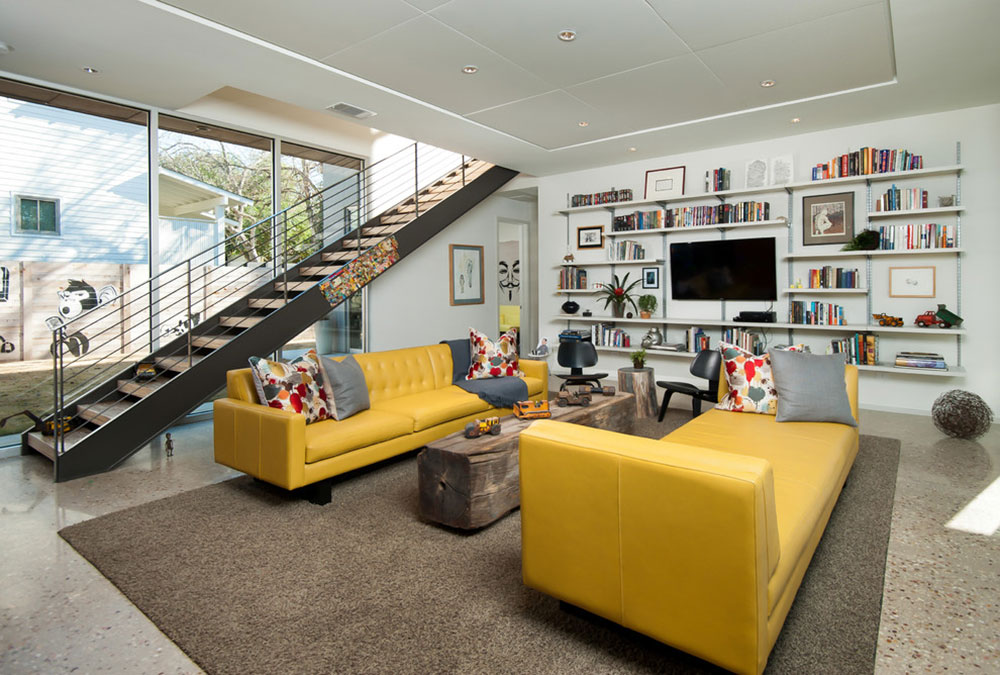 Bon Decorating With A Yellow Couch Color Of The